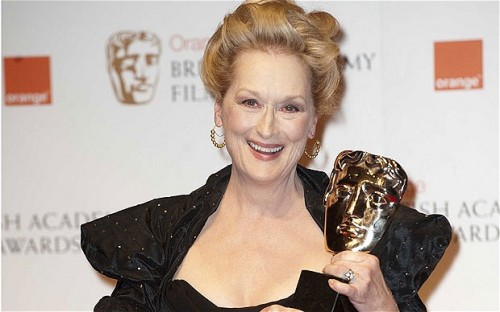 Meryl Streep wins BAFTA Best Actress for THE IRON LADY