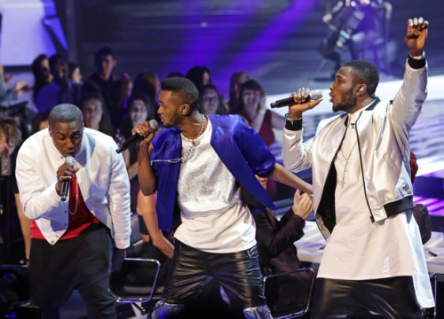 ROUGH COPY performing on Week 6 of X FACTOR Live Shows - Great British Songbook.