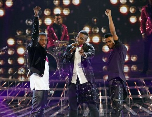 Rough Copy performing September on X-Factor Live Shows - Week 4 - Disco