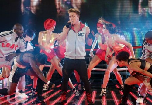 Sam Callahan performing Relight My Fire on X-Factor - Week 4 - Disco