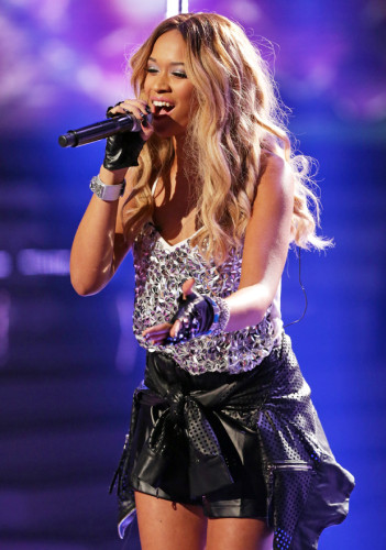 TAMERA FOSTER performing on Week 6 of X FACTOR Live Shows - Great British Songbook.