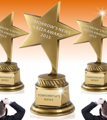 AWARDS: TOMORROW'S NEWS - KAZZA TV Awards 2015 - See Who Won