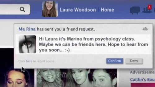 Read the Latest Film Reviews 2016 - FRIEND REQUEST - Screencap