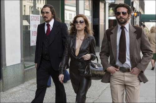 Amy Adams, Christian Bale and Bradley Cooper in AMERICAN HUSTLE - Film Review