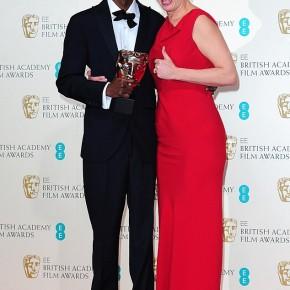 AWARDS NEWS: Barkhad Abdi and Emma Thompson -BAFTA 2014 Awards