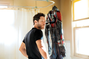 FILM NEWS: Paul Rudd next to the Ant Man suit