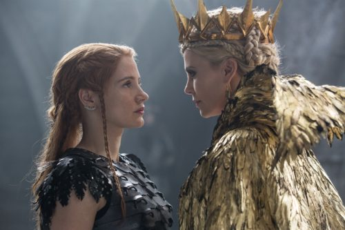 The place for the Latest Film Reviews 2016 - THE HUNTSMAN - WINTER'S WAR - CHARLIZE THERON; JESSICA CHASTAIN